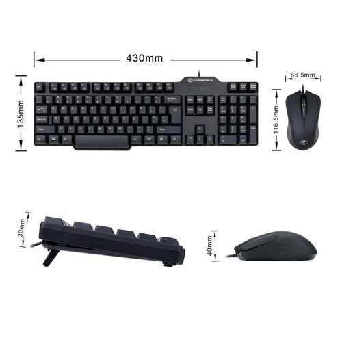 GOFREETECH GFT-S003 Wired Keyboard and Mouse Combo