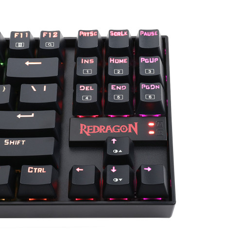 Redragon K552 KUMARA 87 Key LED RGB Backlit Mechanical Computer illuminated Keyboard with Blue Switches for PC Gaming Compact ABS-Metal Design