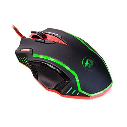 Redragon M902 SAMSARA 16400 DPI High-Precision Programmable Laser Gaming Mouse for PC, FPS, 13 Programmable Buttons, Weight Tuning Cartridge, 5 Programmable User Profiles, Omron Micro Switches (Black
