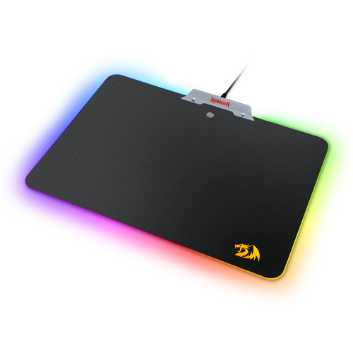 Redragon P011 Orion RGB Mouse pad, Hard Surface, Waterproof, Colorful LED Lighting Gaming Mouse Pad Mat for Computer Laptop Notebook