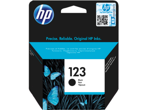 HP 123 Black Original Ink Cartridge (F6V17AE)