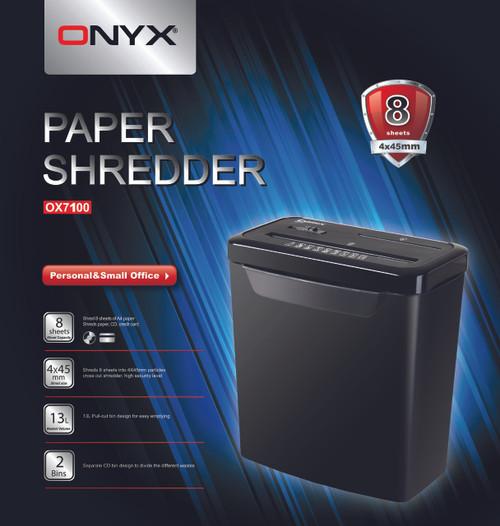 ONYX OX7100 Paper Shredder