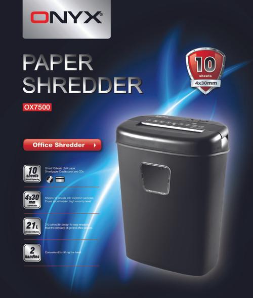 ONYX OX7500 Paper Shredder