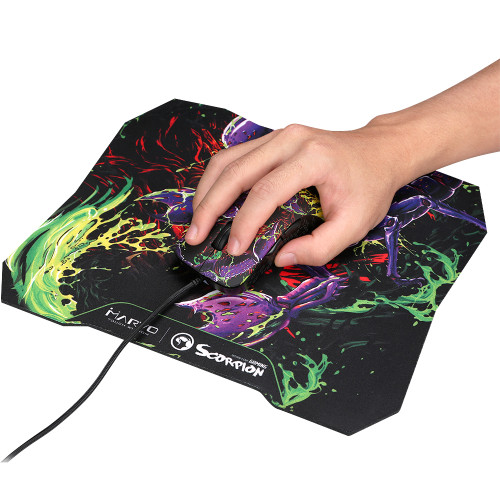 MARVO SCORPION G932+G20 MOUSE & MOUSEPAD ADVANCED GAMING COMBO
