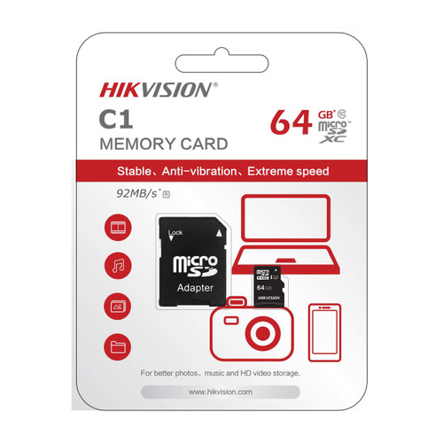 HIKVISION MicroSDHC™ 64GBHigh Performance