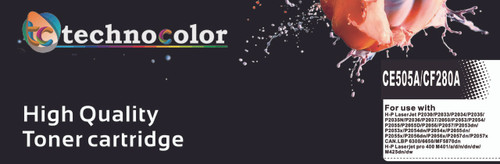 TechnoColor 80A Black HP Compatible LaserJet Toner Cartridge (CF280A) (view)