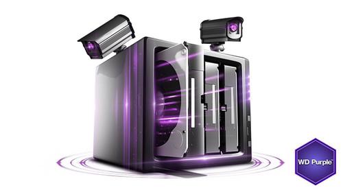 WD Purple 2TB Surveillance Hard Disk Drive - 5400 RPM Class SATA 6 Gb/s 64MB Cache 3.5 Inch - WD20PURX