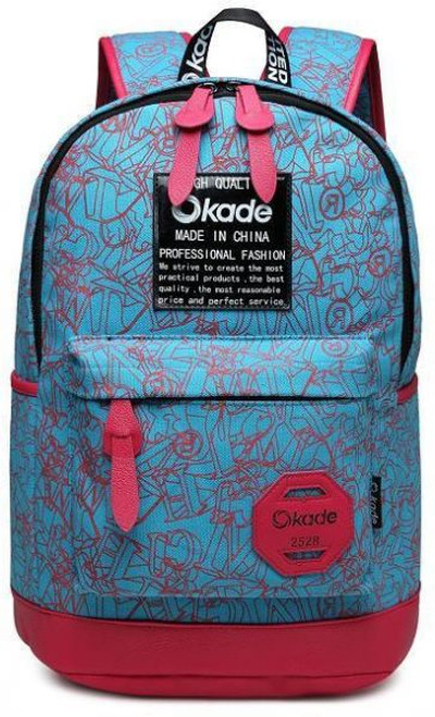 "OKADE Backpack Bag D2528 Laptop Bag - Up to 15.6"" BLUE"