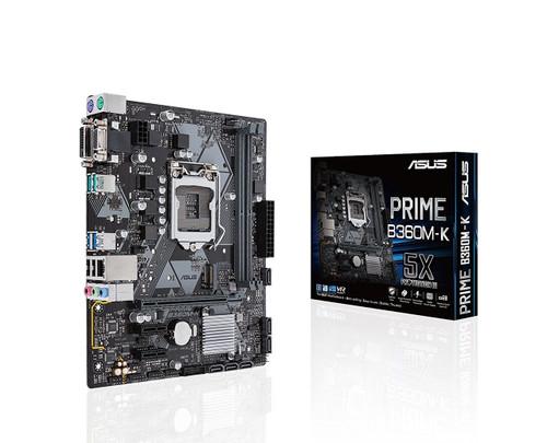 Motherboard ASUS PRIME B360M-K LGA 1151 (300 Series) Intel B360 SATA 6Gb/s USB 3.1 uATX Intel Motherboard