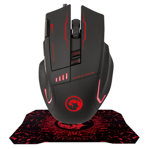 MARVO SCORPION G909+G1 MOUSE & MOUSEPAD ADVANCED GAMING COMBO