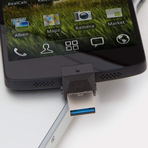 Kingston DataTraveler MicroDuo 32GB USB 3.0 OTG Pen Drive (DTDUO3/32GB)