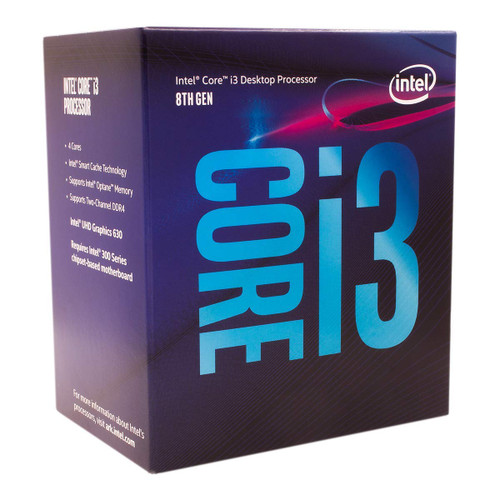 CPU Intel Core i3-8100 Desktop Processor 4 Cores up to 3.6 GHz Turbo Unlocked LGA1151 300 Series 95W