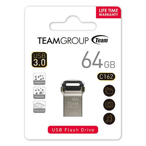 TEAM GROUP FLASH DRIVE C162 USB 3.0 16GB, 32GB, 64GB, 128GB cold metal and minimalist colors
