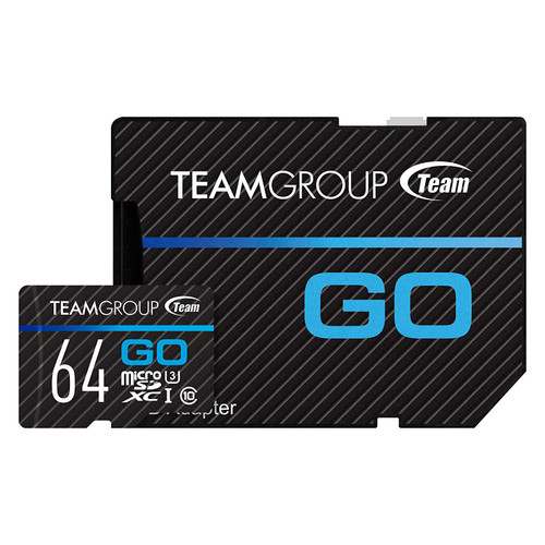 TEAM GROUP GO Card UHS-I U3 MicroSD CARD 32GB, 64GB for professional photographer