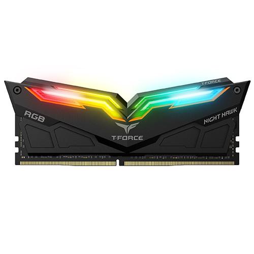 RAM Team T-Force Night Hawk RGB 16GB (2 x 8GB), 32GB(2*16GB) 288-Pin DDR4 3000/3200 (PC4 25600) Memory (Desktop Memory)
