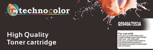 TechnoColor 53A Black HP Compatible LaserJet Toner Cartridge (  Q7553A )