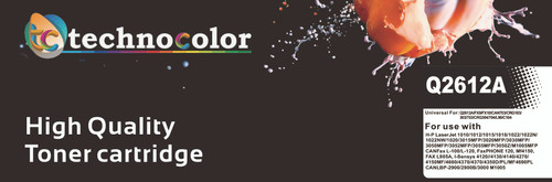 TechnoColor 12A Black HP Compatible LaserJet Toner Cartridge ( Q2612A)