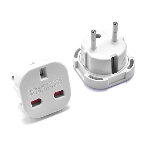 EU to UK Travel Plug Adapter