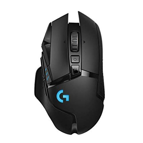 Logitech G502 Lightspeed Wireless Gaming Mouse with Hero 16K Sensor, PowerPlay Compatible, Tunable Weights and Lightsync RGB (view)