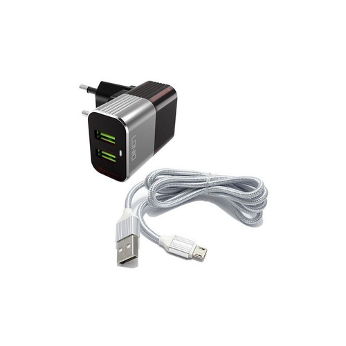 LDNIO A2206 EU Adaptive Travel Charger 2.4A For Mobile Phones,  2 USB – Fast Charging