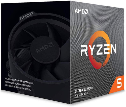 MD Ryzen 5 3600X 6-Core, 12-Thread Unlocked Desktop Processor with Wraith Spire Cooler (