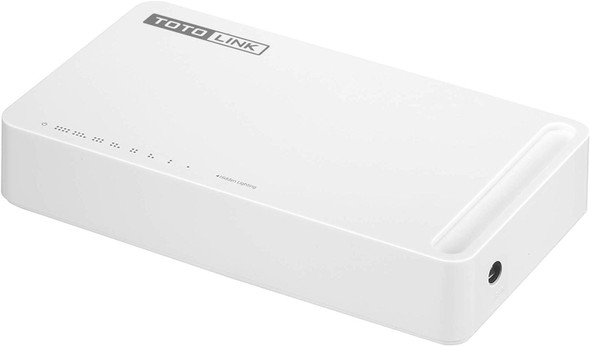 TOTOLINK 8-Port Gigabit Unmanaged Network Switch, Ethernet Splitter, Ethernet Hub, Plug and Play, Fanless, Quiet ( S808G ) ( 8 Port, Gigabit )