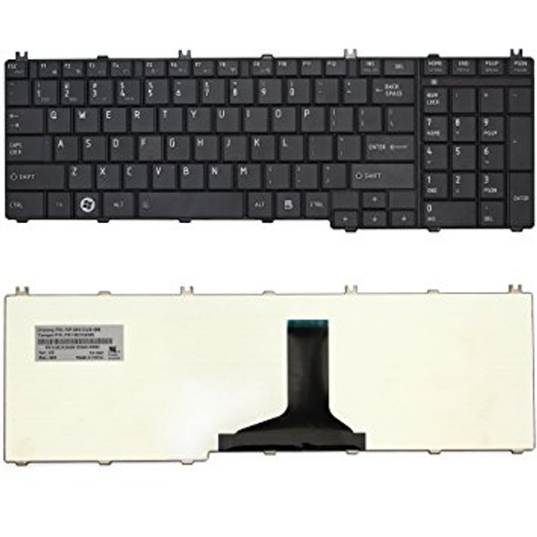 Replacement Laptop Keyboard for TOSHIBA C660 - C650 - L655 - L665 Black /V114326CK1 / BLACK