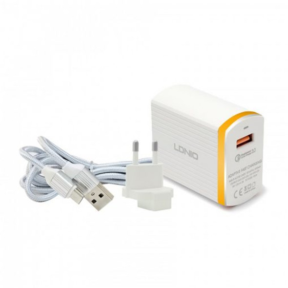 LDNIO A1302Q 3A 1 USB Output Quick Charge 3.0 Auto ID Fast Charging USB Charge