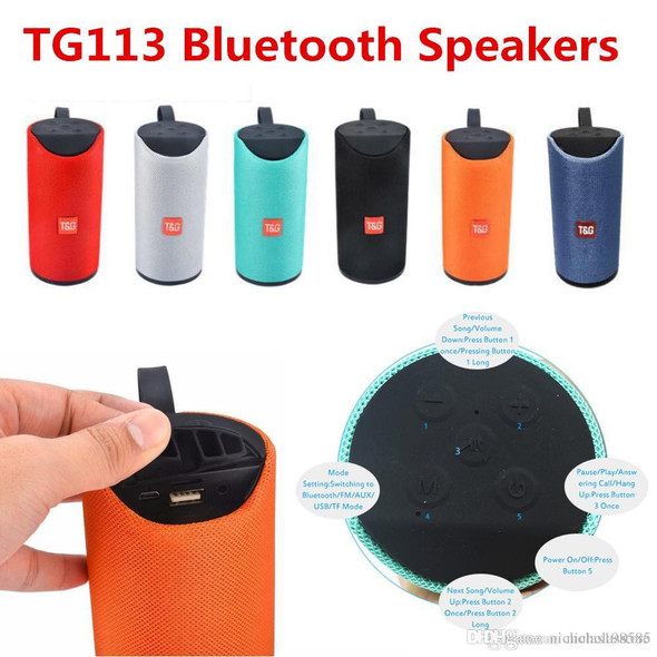 New Compatiable TG113 Portable Wireless Bluetooth Speaker
