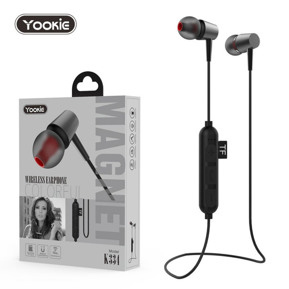 Yookie K334 Wireless Colorful Earphone With Scalable TF Card