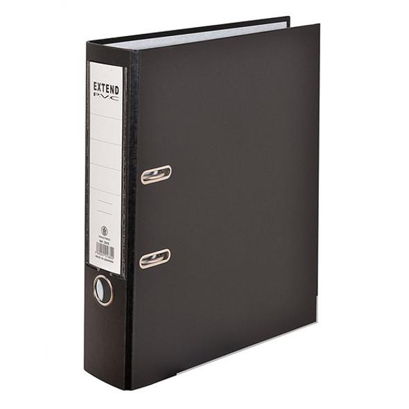 EXTEND Letter-file PVC label 8cm A4-Black
