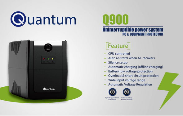 UPS QUANTUM Q900 Uninterruptible Power System