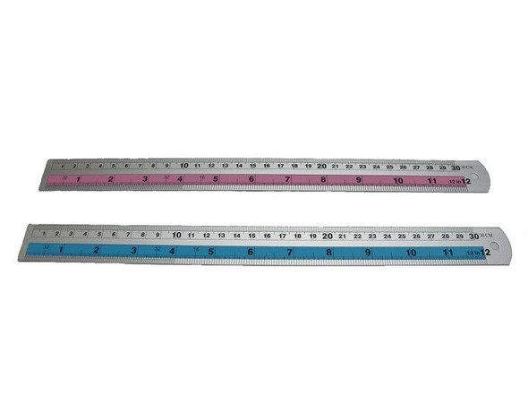 BAOJING ALUMINUM  RULER BJ 3530 30CM Blue and Silver
