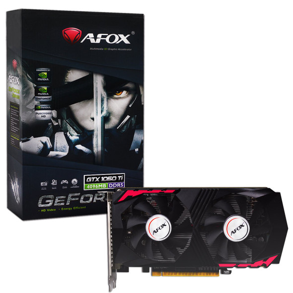 AFOX GeForce GTX 1050Ti GDDR5 GPU 4GB 128 Bit Dual Fan PCI Express 3.0
