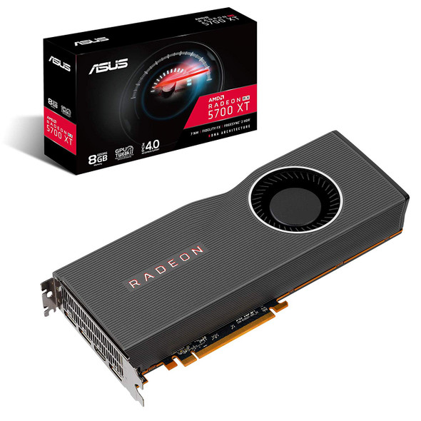 ASUS AMD Radeon RX 5700 XT PCIe 4.0 VR Ready Graphics Card with 8GB GDDR6 Memory and Support for up to 6 Monitors (RX5700XT-8G)