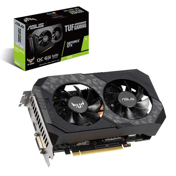 Asus TUF Gaming GeForce GTX 1660 Overclocked 6GB Dual-Fan Edition HDMI DP DVI Gaming Graphics Card