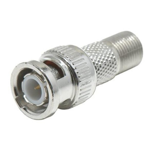 BNC Male to F Female Connector, BNC Screw-on to F Connector, F to BNC