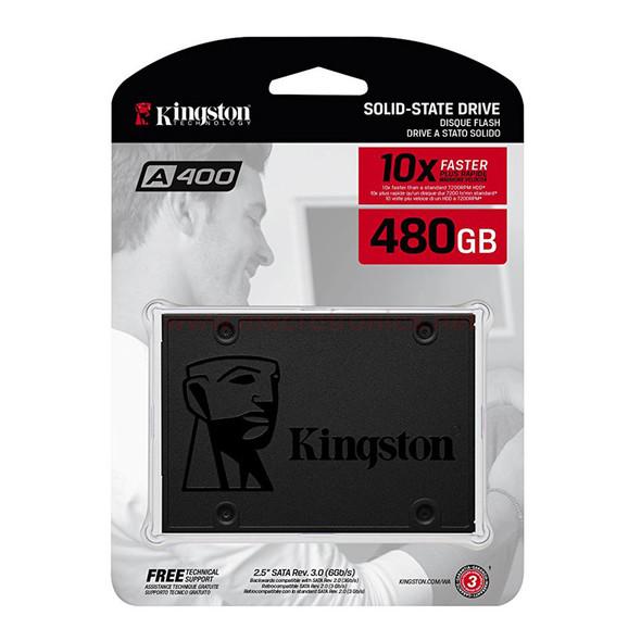 "Kingston 480GB A400 Sata 3 480GB 2.5"" Internal SSD SA400S37/480G"