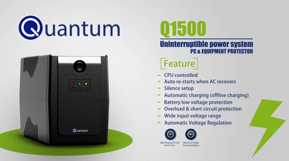 UPS QUANTUM Q1500 Uninterruptible Power System