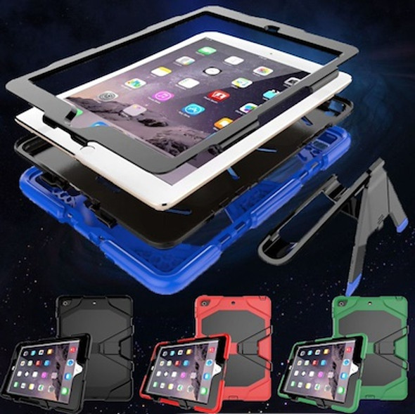 360 Degree Protective Soft Silicone + Hard PC Tablet Case Cover for iPad 2 3 4 iPad, IPAD Air, IPAD 6, IPAD 5