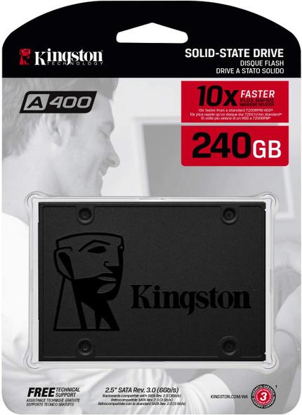 "Kingston 240GB A400 SATA 3 2.5"" Internal SSD SA400S37/240G"