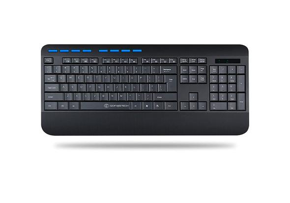 Gofreetech GFT-K001 Wireless Multimedia Keyboard, Black