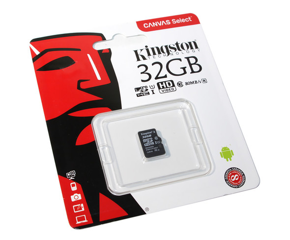 Kingston SDCS/32GBSP Canvas Select - Flash Memory Card - 32 GB - UHS-I U1/ Class10 - microSDHC UHS-I