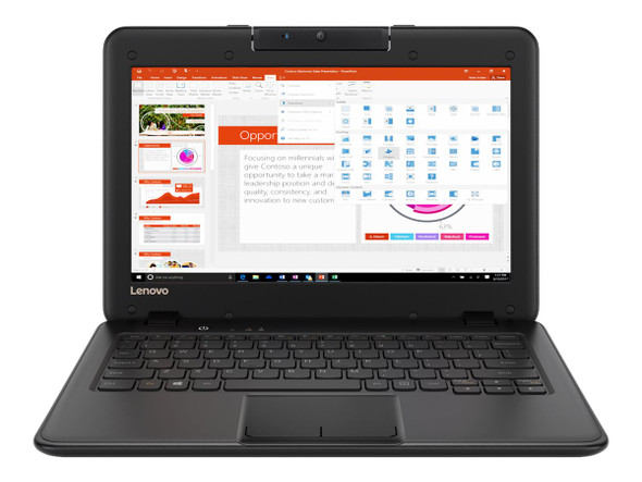 "Laptop Lenovo 11.6"" Laptop N3450 4GB 128GB eMMC Windows 10 Pro 81CY0008US Refurbished"