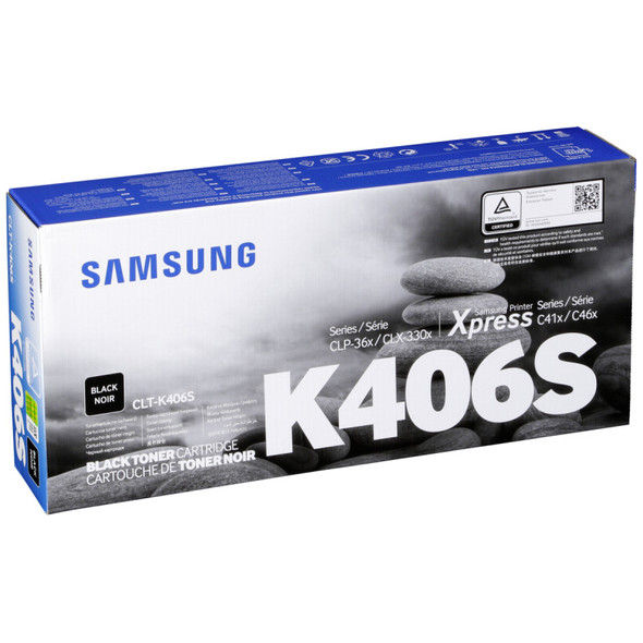 Toner Samsung CLT-K406S Original Printer Cartridge - Black Your image was added to the product.