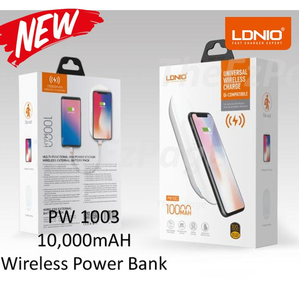LDNIO 10000 MAH UNIVERSAL WIRELESS POWER BANK