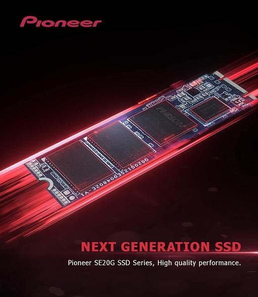 Pioneer 256GB NVMe PCIe M.2 2280 Gen 3x4 Internal Solid State Drive SSD Series (APS-SE20G-256)