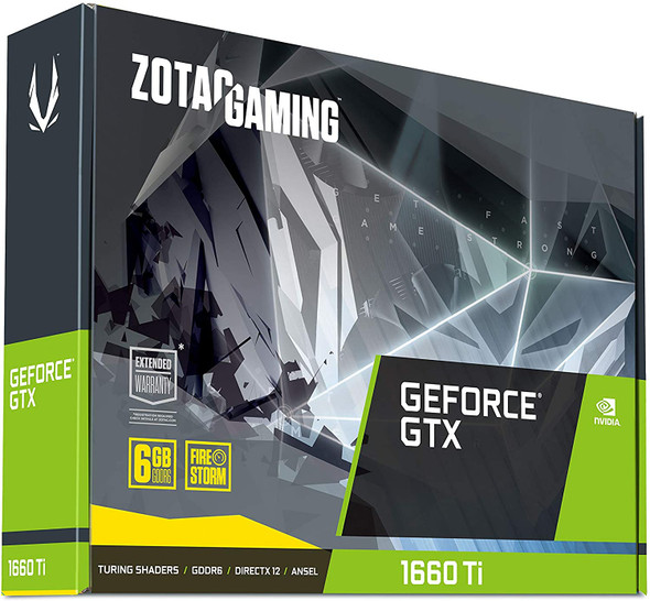 VGA ZOTAC Gaming GeForce GTX 1660 Ti 6GB GDDR6 192-bit Gaming Graphics Card Super Compact - ZT-T16610F-10L