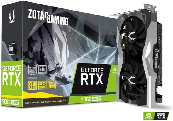 VGA ZOTAC GAMING GeForce RTX 2060 SUPER MINI 8GB GDDR6 256-bit 14Gbps Gaming Graphics Card, Ice Storm 2.0, Super Compact, ZT-T20610E-10M