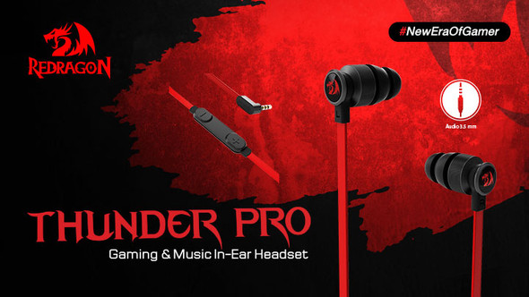Redragon Headset Thunder Pro E200 Gaming In-Ear Headset
